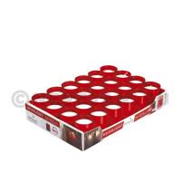 Kaars Highlight navulling rood 24st Spaas