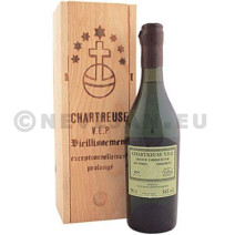 Chartreuse vep 1l 54% houten kist