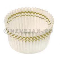Papieren cupcake vormpjes N°5 wit 28/20mm 1400st Nordia