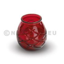 Kaars Glas d'light rood 6st Spaas