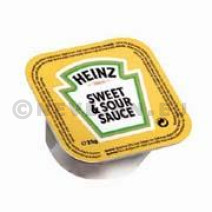 Heinz Zoetzure Sweet & Sour Saus porties in cups dippot 100x21ml