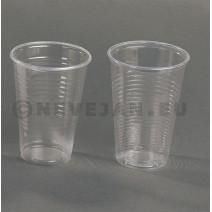 Drinkbeker pvc 200cc 100st transparant