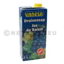 Rood druivensap Varesa Slim Line 1L Brick + schroefdop