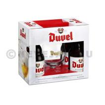 Duvel 4x33cl + Glas in geschenkdoos