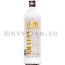 Jenever st.pol 1l 30% glazen fles met etiket
