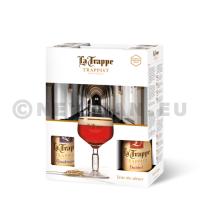 Trappist la Trappe 4x33cl + 1 glas + geschenkverpakking