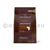Barry Callebaut origine Madagascar donker fondant chocolade Pastilles 2,5kg callets (Default)