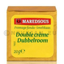 Maredsous Dubbelroom kaasporties 20gr 80st smeltkaas
