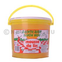 Zachte zeep Mousse de lin 5kg natuurzuiver emmer