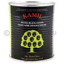 Zwarte olijven zonder pit 1L 30/33 blik