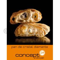 Pan de Cristal Diamante 18x150gr Concept Pa