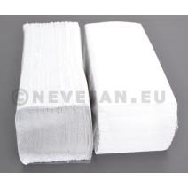Papieren Handdoekjes naturel wit Cellulose 1-laags Zig Zag gevouwen 25x23cm 4600st