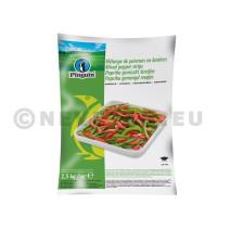 Paprika Tweekleur Reepjes Rood/Groen 2.5kg Diepvries