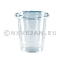 Plastiek borrelglas op voet 5cl 12st