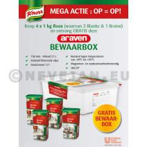 Promo Knorr 3 x Blanke Roux + 1 x Bruine Roux + Gratis Araven bewaardoos
