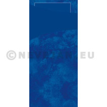 Sacchetto donkerblauw 200x85 papier+servet 100st