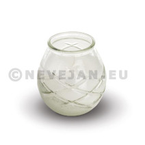 Kaars Glas d'light transparant 6st Spaas