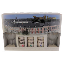 Trappist Rochefort 3x33cl + 2 glas + geschenkverpakking