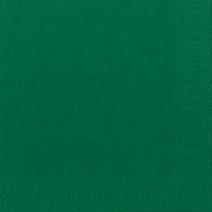 Servet donkergroen 2laags 33x33cm 125st