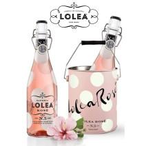 Sangria Lolea N°5 rose 2x75cl fles + ijsemmer in geschenkverpakking