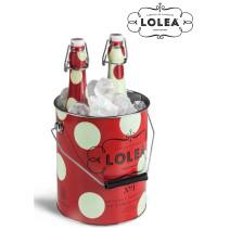 Sangria Lolea wit & rood 2x75cl fles + ijsemmer in geschenkverpakking
