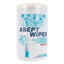 Asept Wipes Ontsmettingsdoekjes 150st Wipe Away (Poetspapier & Zakdoekjes)