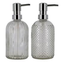 Dispenser voor zeep in glas met pompje 400ml navulbaar (Default)