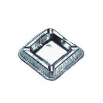 Asbak aluminium vierkant 10x10cm