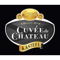 Cuvée du Chateau 2x75cl Kasteelbier bruin 11% + Glas in houten kist