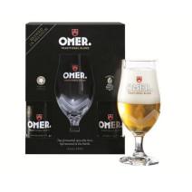 Omer Bier Blond 4x 33cl + 1 glas + geschenkverpakking