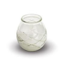 Kaars Glas d'light transparant 6st Spaas
