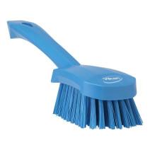 Vikan handborstel blauw korte steel 41923