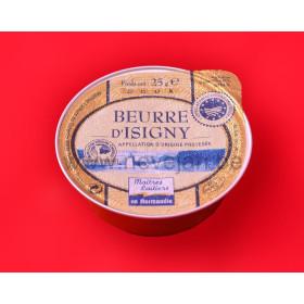Porties boter Beurre D'Isigny ongezouten 48x25gr alu cup