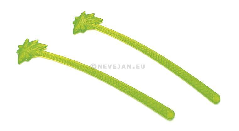 Agitateurs Palmier 15cm Fluo vert 100pc 12018 Sier Disposables