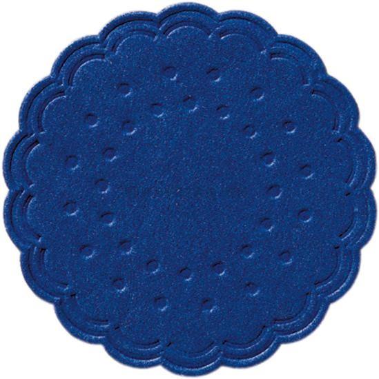 Sous-Verres bleu foncé 8-couches 7.5cm 250pc Duni