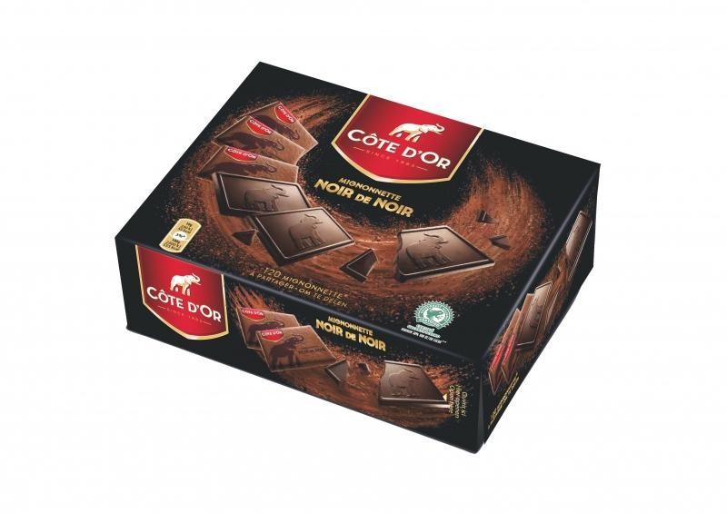 Cote d'Or Mignonettes Chocolat Noir de Noir 120pc Emballes Individuellement