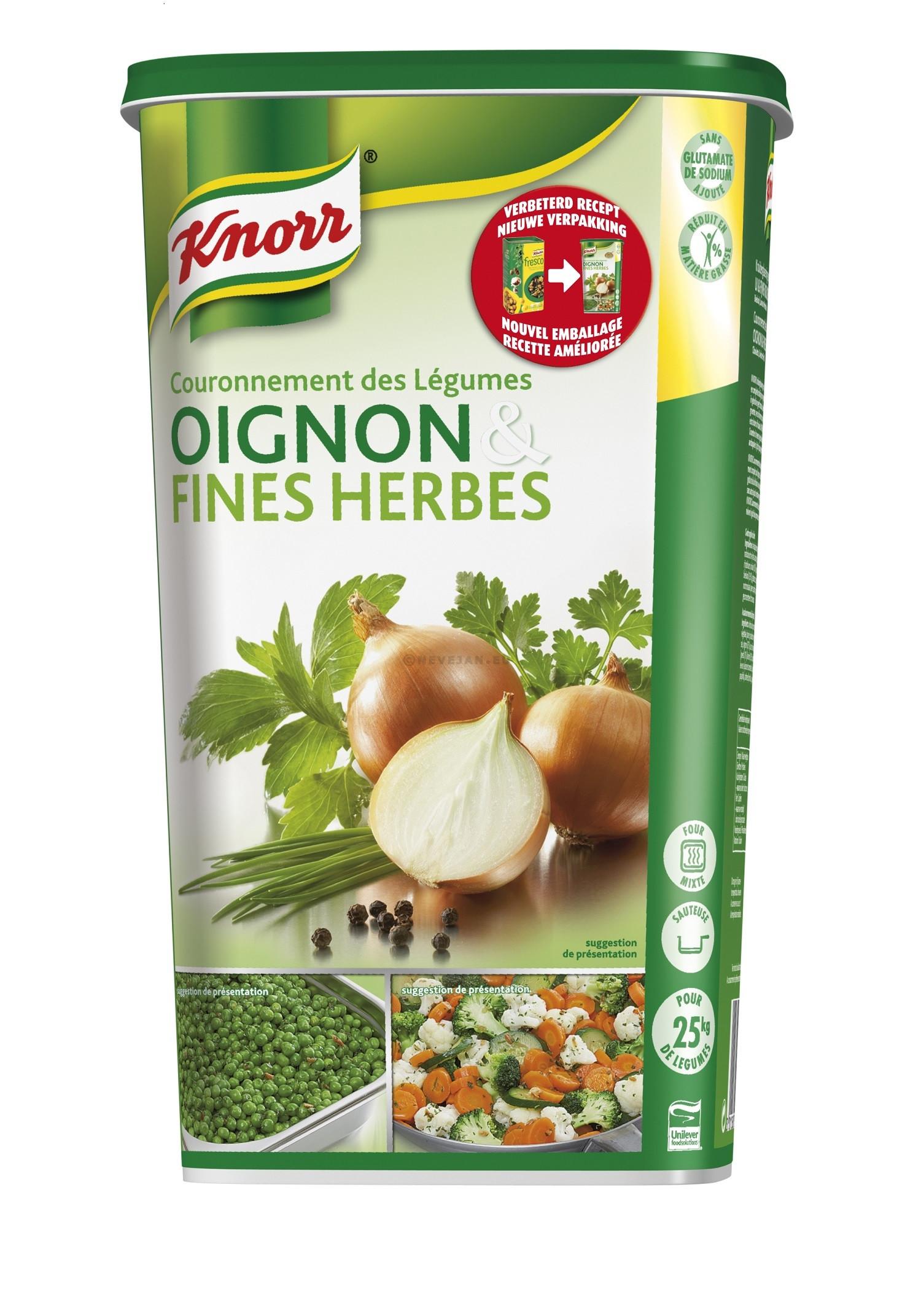 Knorr oignons & fines herbes 1kg couronnement légumes