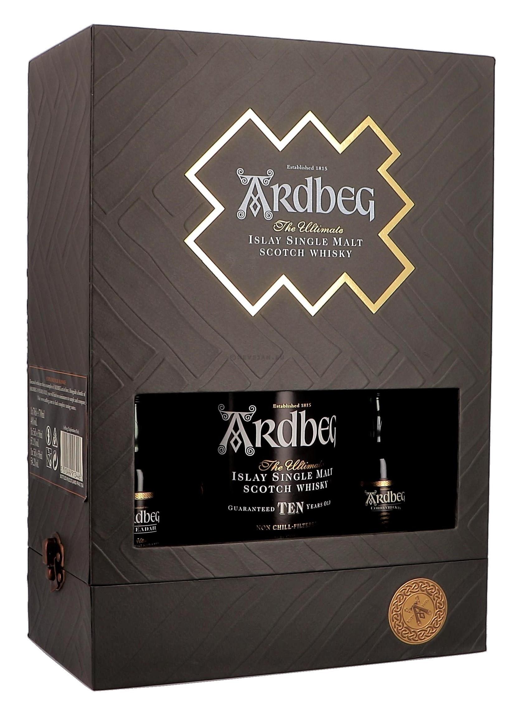 Ardbeg Exploration 10 Years 70cl + 2 x 5cl Coffret Cadeau (Whisky)