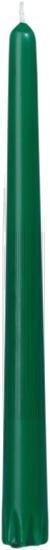 Bougies gotique vert foncé 24.5cm 6.5h 50pc Duni