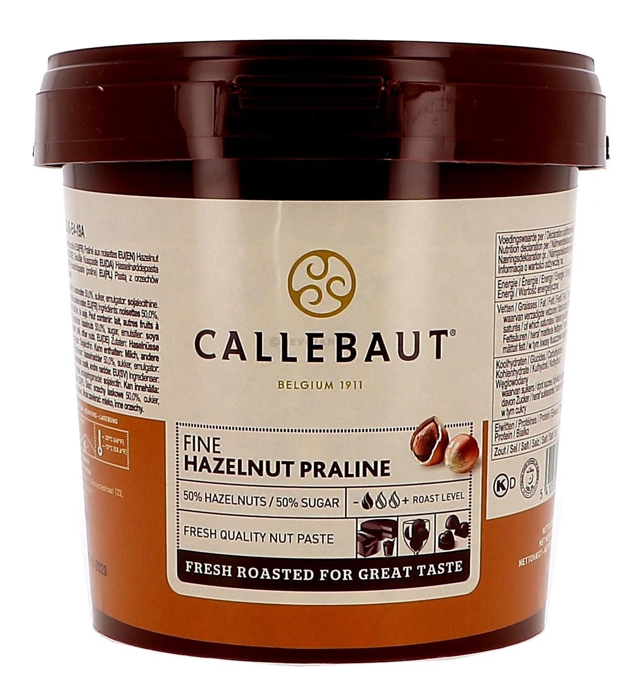 Callebaut praliné noisettes 1kg seau (Chocolade)