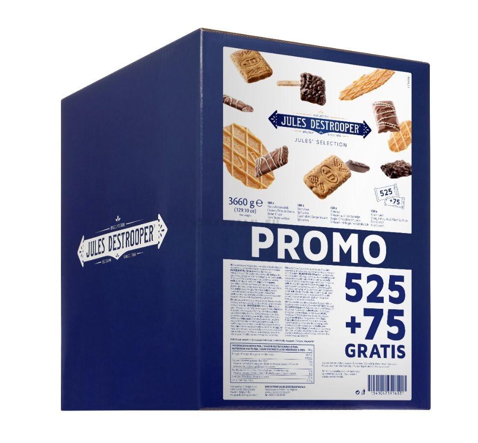 Jules Destrooper Selection boterkoekjes assortie 525+75 GRATIS