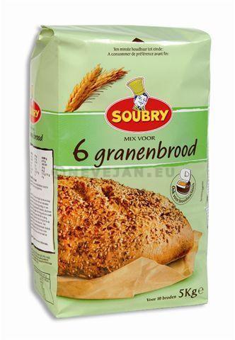Farine 6 grains pour pain 5kg Soubry