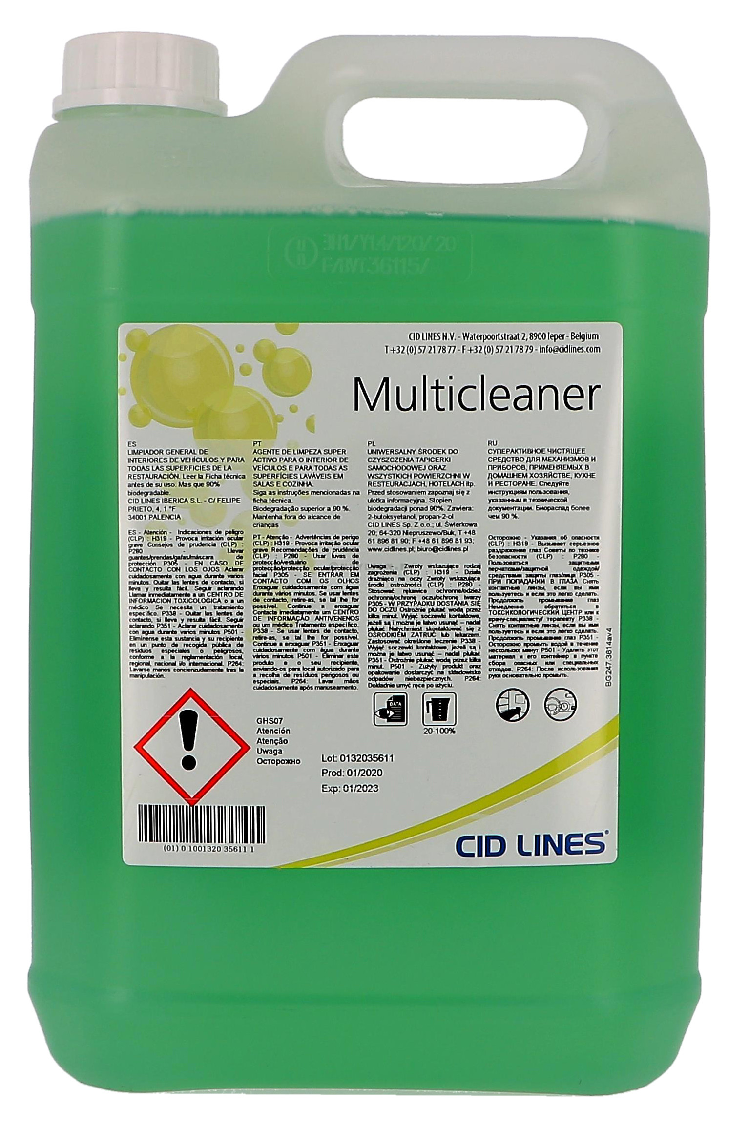 Multicleaner Detergent multi-usage pin 5L a dilluer