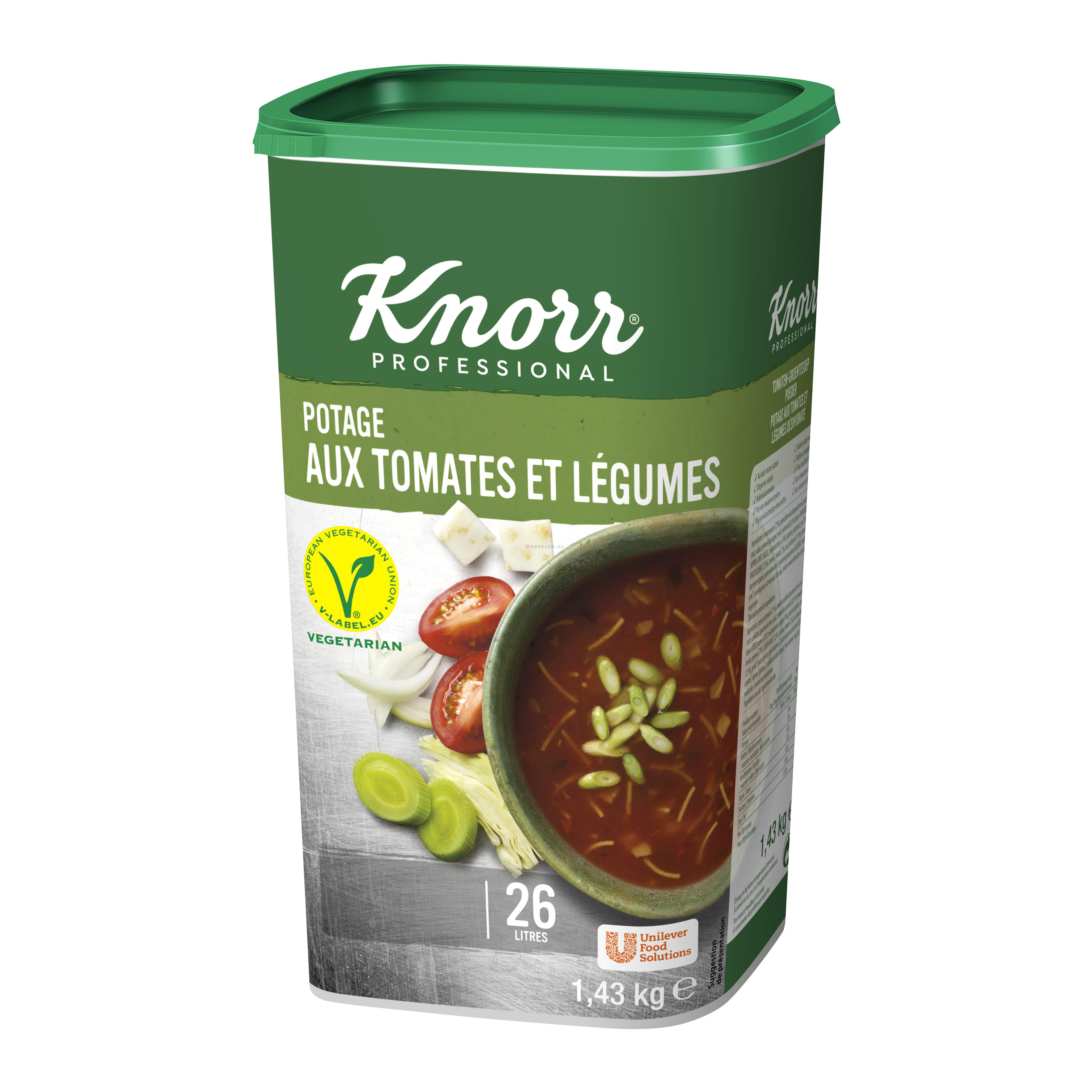 Knorr potage aux tomates et legumes 1.43kg Professional