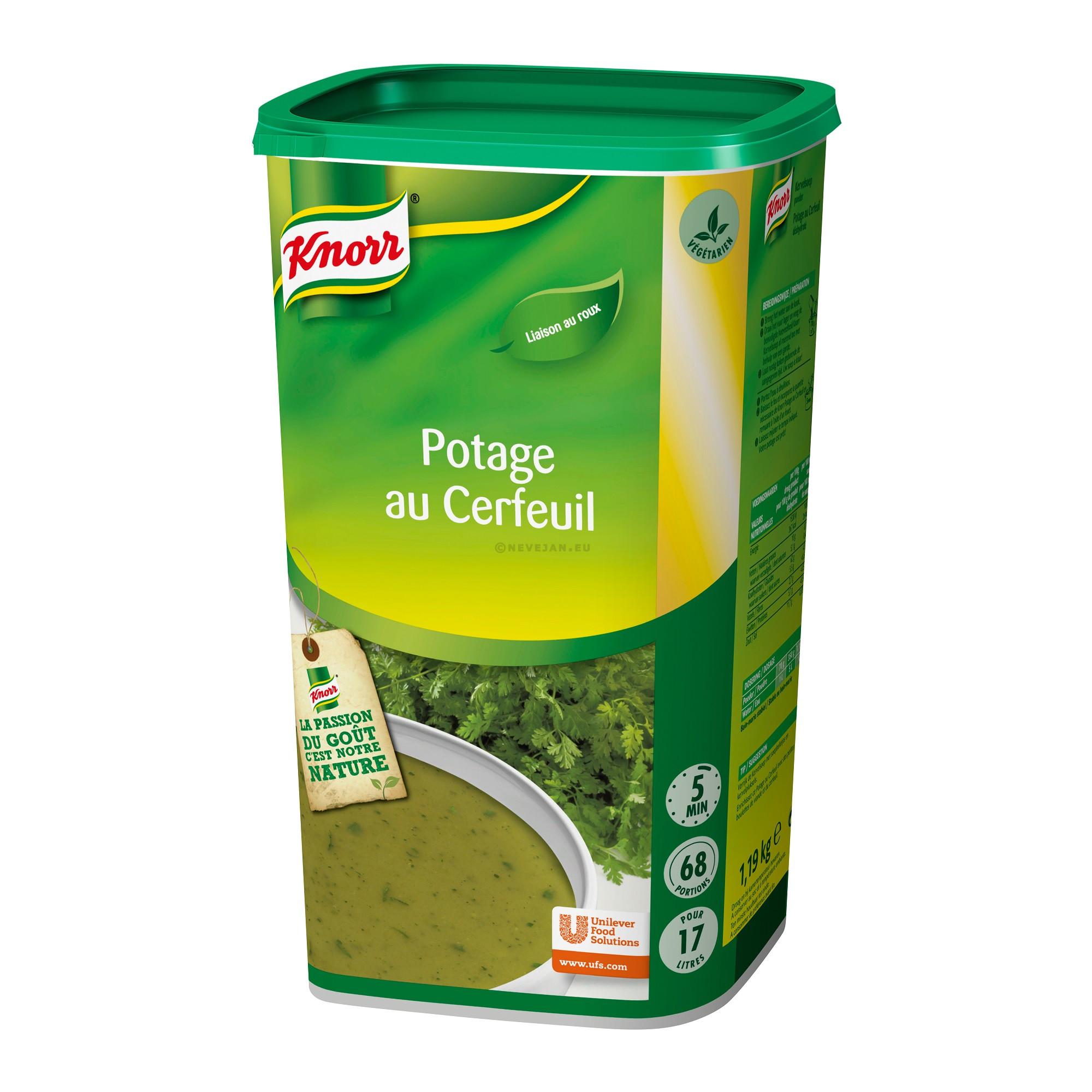 Knorr potage au cerfeuil 1.365kg Soupe de tous les Jours