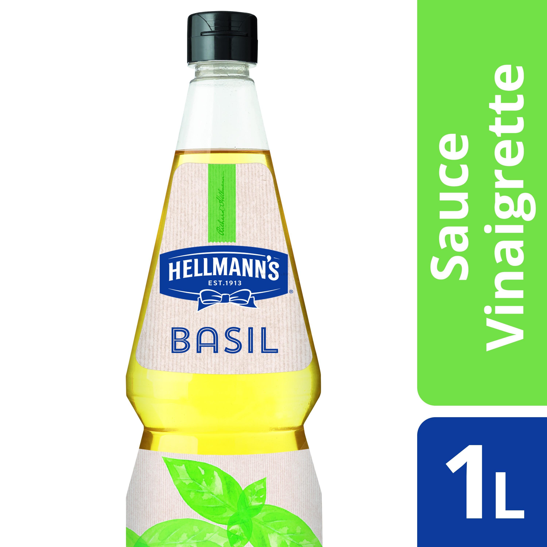 Hellmann's vinaigrette basil 1L bouteille pinçable