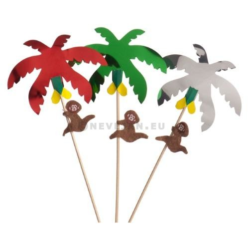 Aap in palmboomprikker 100st assortie 4756PD