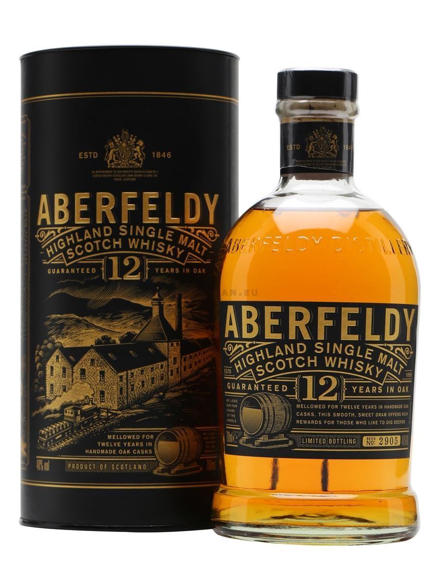Aberfeldy 12 Ans d'age 70cl 40% Highlands Single Malt Whisky Ecosse