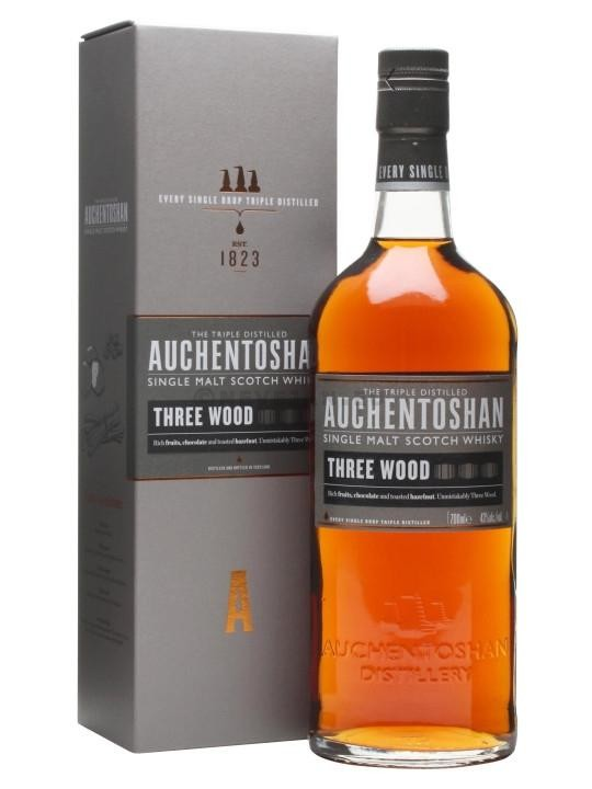 Auchentoshan Three Wood 70cl 43% Lowland Single Malt Whisky Ecosse