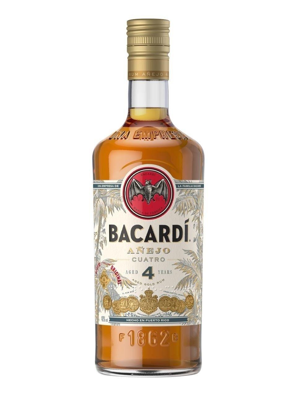 Rhum Bacardi Anejo Cuatro 1L 40%